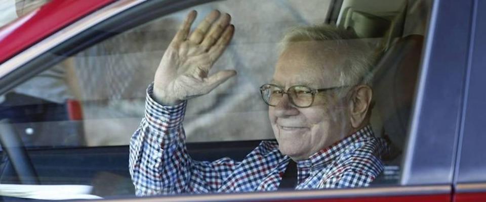 Warren Buffett in his car