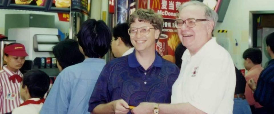 Warren Buffett and Bill Gates at McDonald's